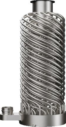 AIC hellical fire tube heat exchanger
